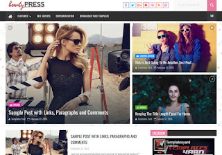 Beauty Press Blogger Template