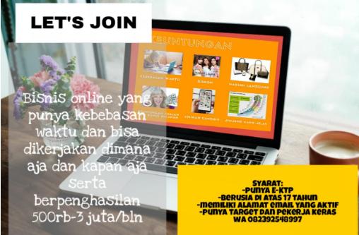 Peluang Bisnis Online Menguntungkan, Perbulan 3 Juta, Mau ?