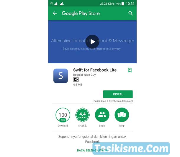 aplikasi facebook android ukuran kecil