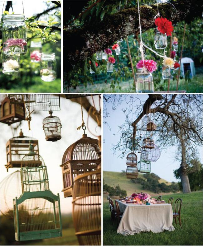 Vintage Outdoor Wedding Decorations Ideas: {Wedding Trends} : Hanging Wedding Decor