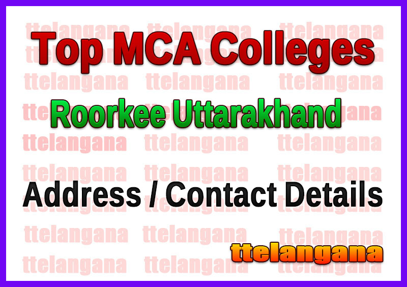 Top MCA Colleges in Roorkee Uttarakhand