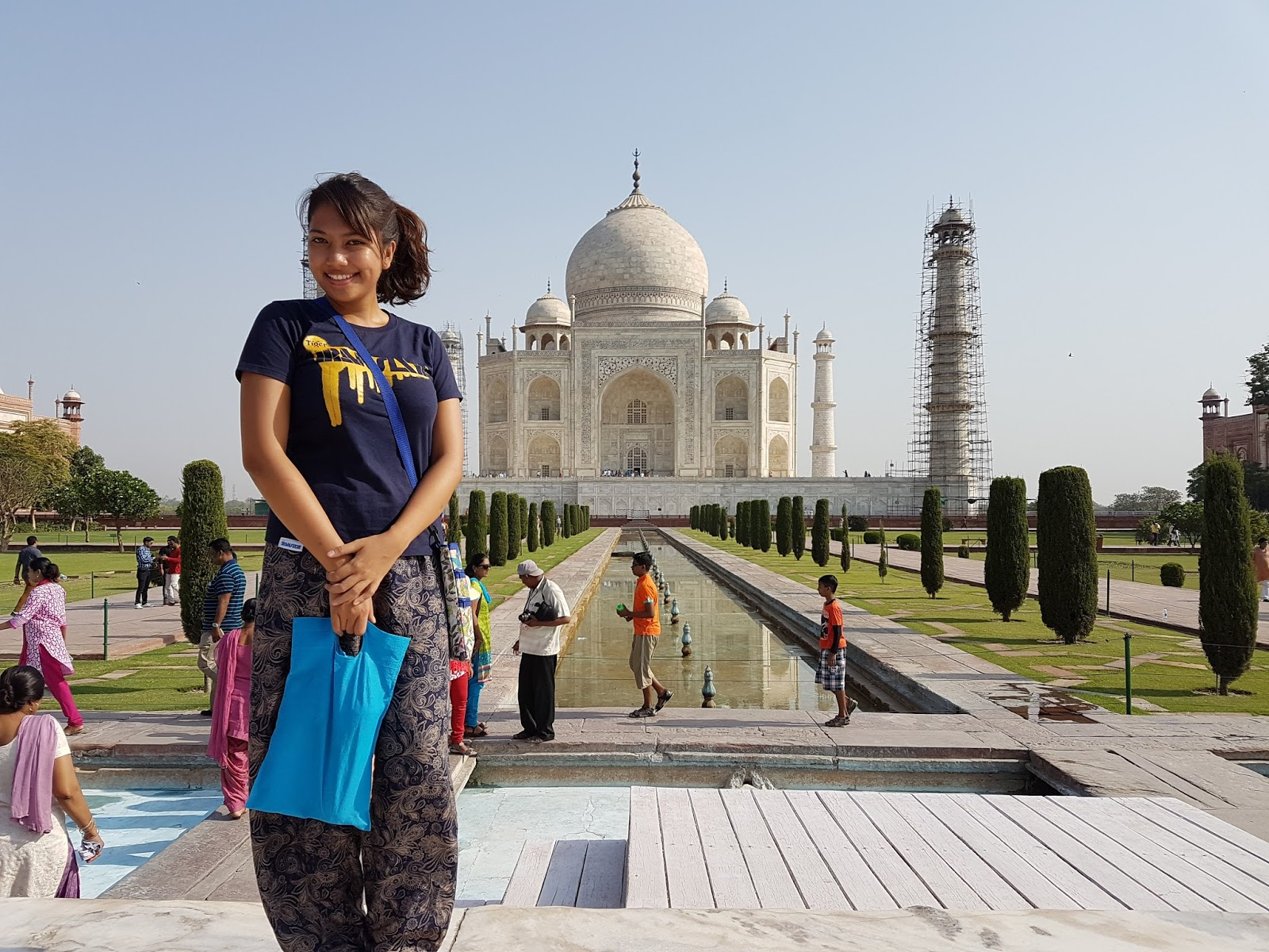 In front of Taj Mahal - Is Taj Mahal Worth Visiting or Overrated - Ummi Goes Where?