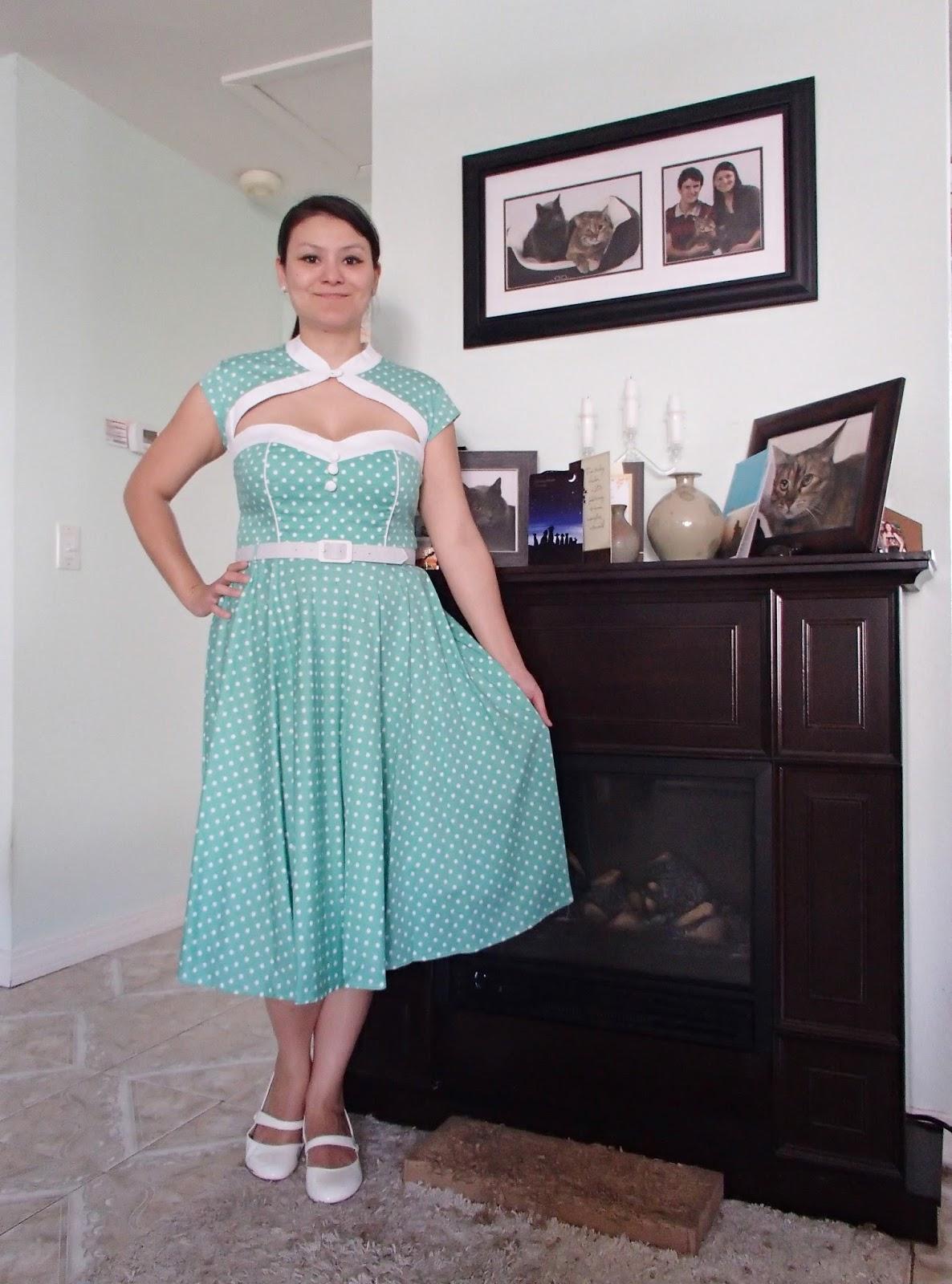 32bf895816 Hell Bunny Melanie dress in Mint