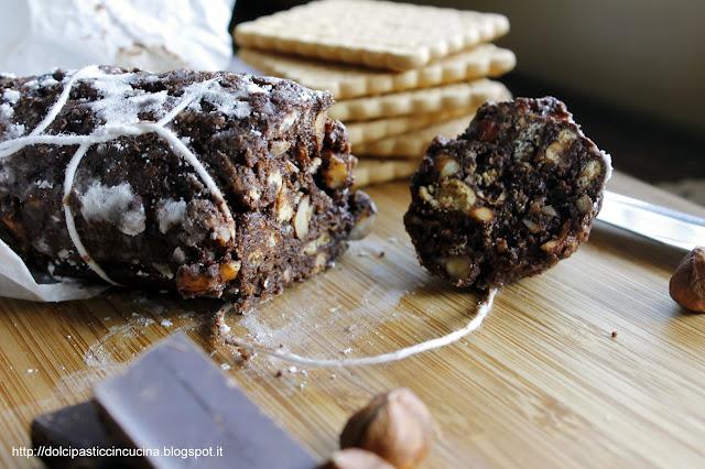 salame cioccolato senza burro ricetta