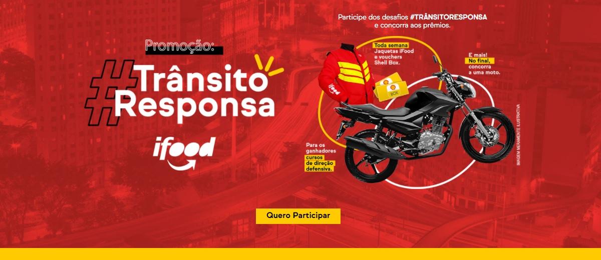 Promoção iFood 2021 Trânsito Responsa Moto, Jaquetas e Vouchers Shell Box