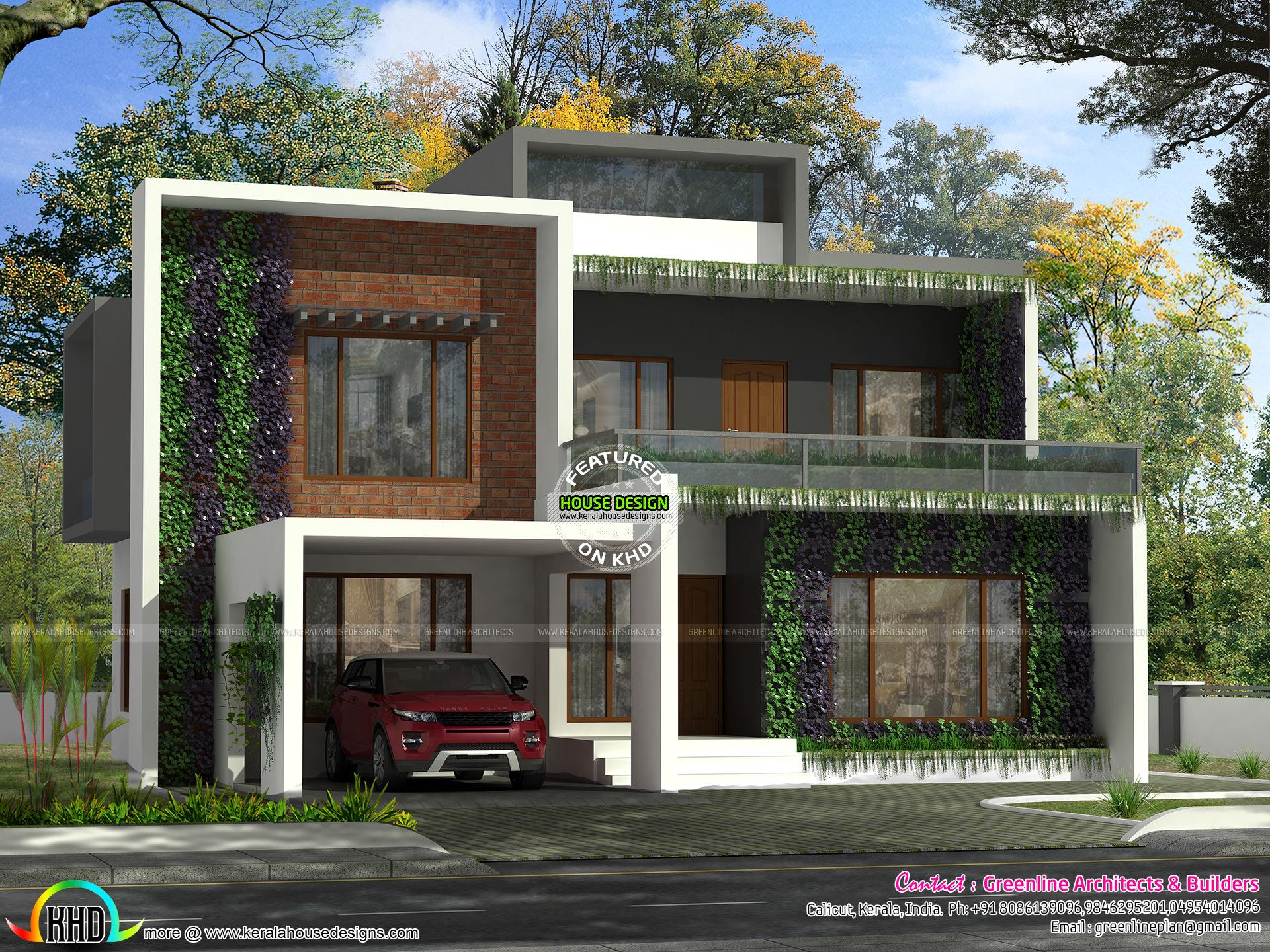 Vertical garden house kerala kerala home design and for Garden house plans