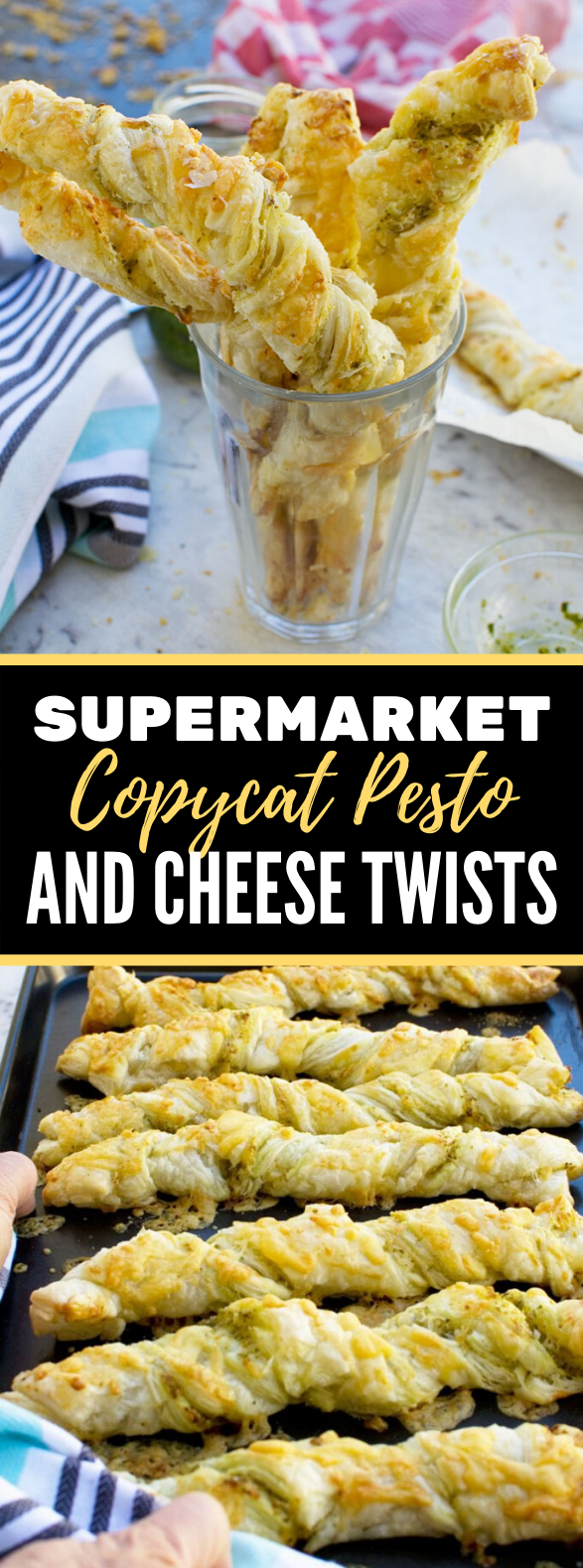 SUPERMARKET COPYCAT PESTO AND CHEESE TWISTS #snack #vegetarian