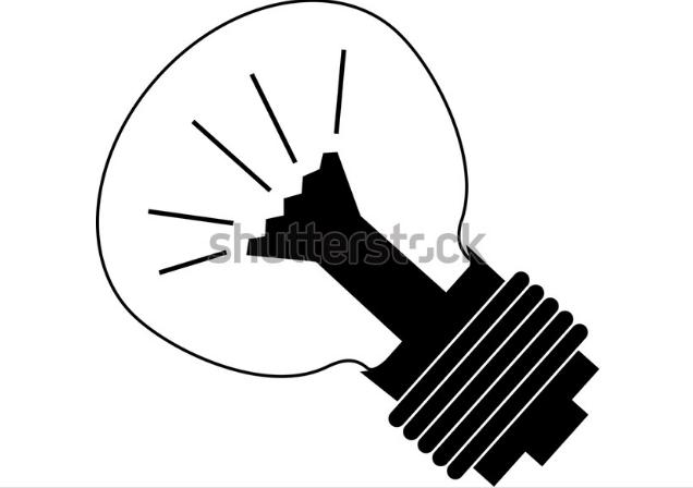 illustration style bright lamp