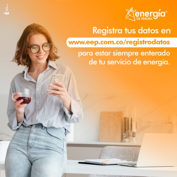 Energía de Pereira, registra tus datos