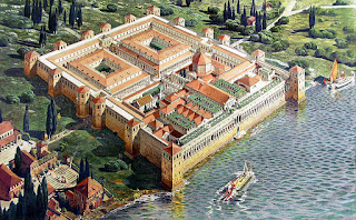 An artist's reconstruction of the vast palace Diocletian built for himself in what is now Split in Croatia