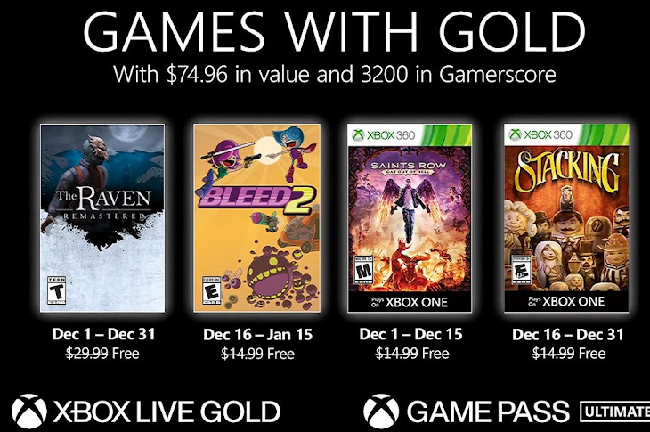 Games With Gold Revealed For December 2020