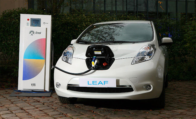 Nissan and Enel vehicle-to-grid connection