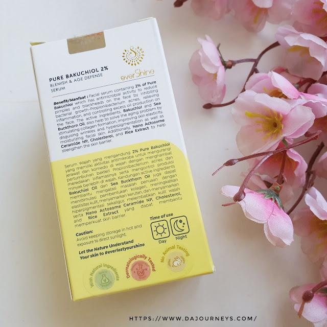 Review everShine Blemish & Age Defense with 2% Pure Bakuchiol Serum