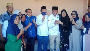 Pemilik Hotel Aussal dan POM Bensin Penato'i Siap Lahir Batin Menangkan Pasangan SYAFA'AD.