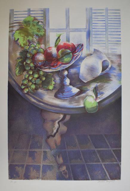 Jordi Andreu Fresquet obra gráfica naturaleza muerta frutas