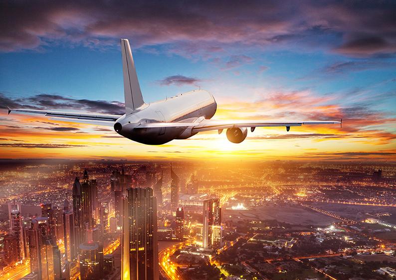 photo avion ciel ville