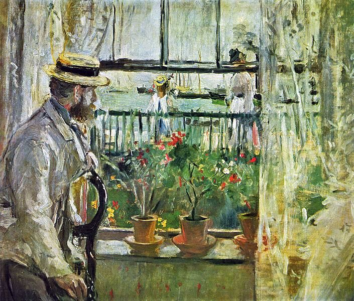 Manet+pintado+por+Berthe+Morisot+1875 - Características básicas de la pintura impresionista