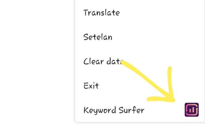 Cara pasang keyword surfer