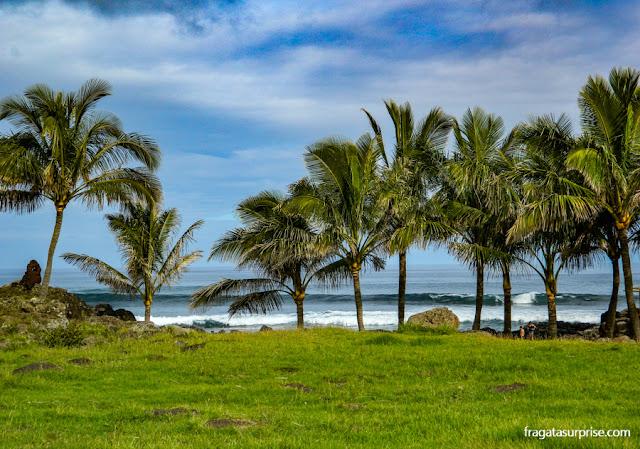 Praia na Ilha de Páscoa