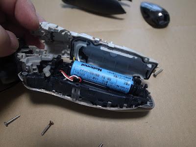 National ラムダッシュ ES8259 電池交換 ESLA50L2507N電池が見えます