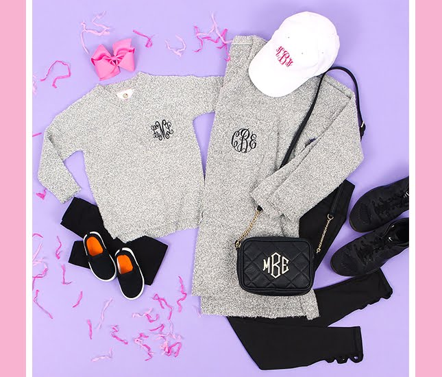 monogram gray sweaters outfits