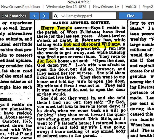 Article mentioning ancestors