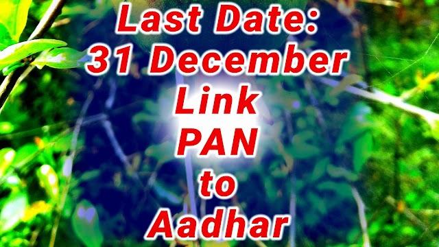 अंतिम तिथि 31 दिसंबर: आधार से पैन को लिंक करें ले नहीं तो पेन कार्ड