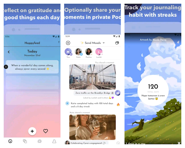 HappyFeed - 5 Gratitude Journaling Apps To Try Today
