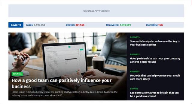 Newspeed - Professional News Blogger Template