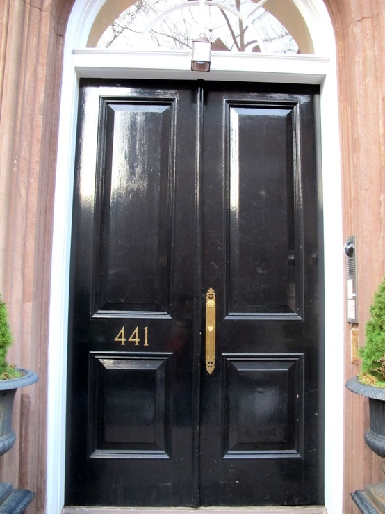 Chinoiserie Chic The Chinoiserie Front Door Glossy Black