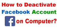 how to delete facebook account on computer