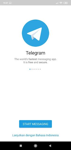 cara daftar telegram di Android