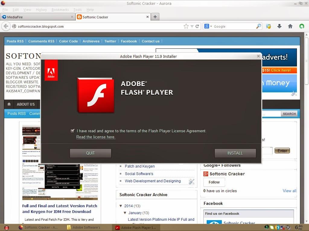 Flash Player Version Download