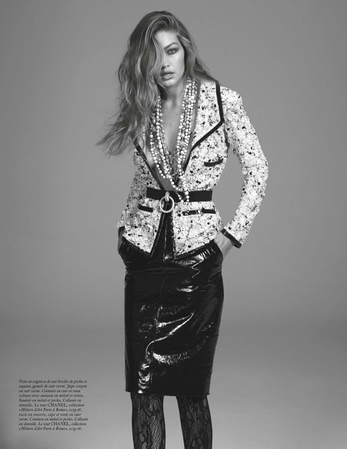 Gigi Hadid in Vogue Paris - Photo Gigi Hadid 2016