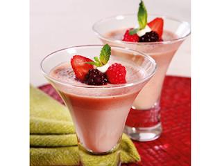 Sobremesa de Taça de Frutas Vermelhas (sem açúcar)