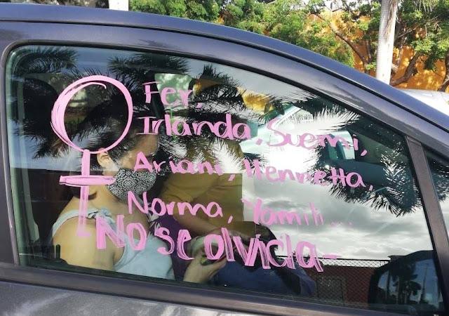 Protesta por feminicidios. Facebook