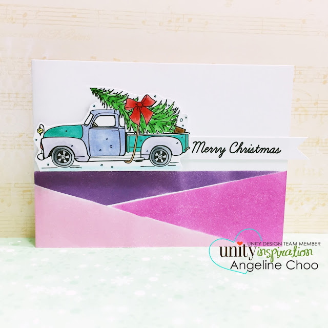 ScrappyScrappy: Unity Stamp Brown Thursday hop - Christmas card #scrappyscrappy #unitystampco #stamp #copic #christmas #mamaelephant #pigmentink #mosaic #card #christmascard