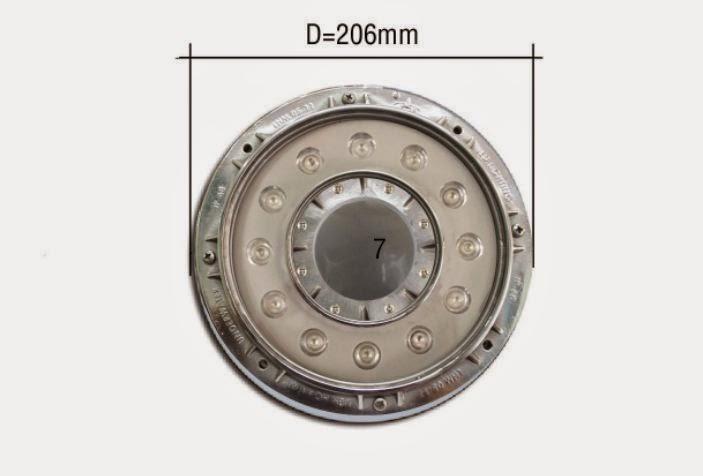 ĐÈN LED ÂM NƯỚC ỐNG 12W INOX