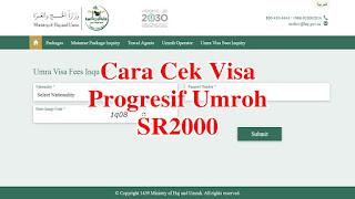 Cara Mengecek Visa yang kena Biaya Progresif