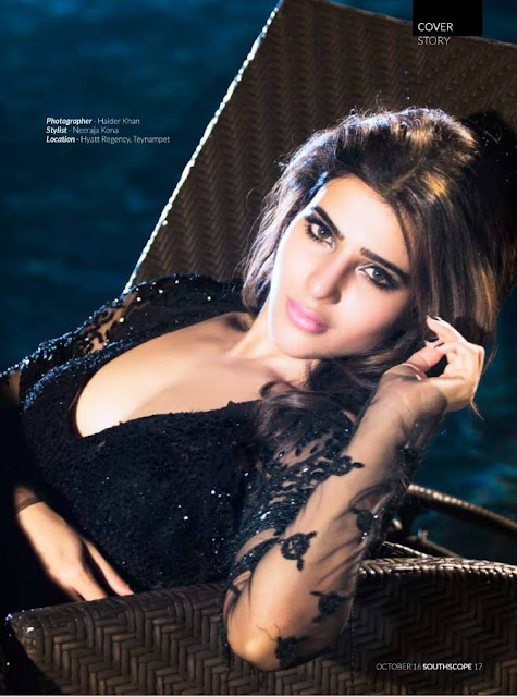 Stytlish Samantha Prabhu Features on SOUTH SCOPE Magazine October 2016