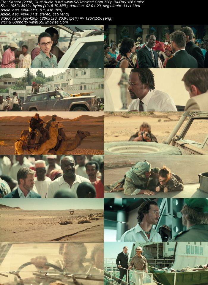 Sahara (2005) Dual Audio Hindi 720p BluRay x264 1GB Movie Download