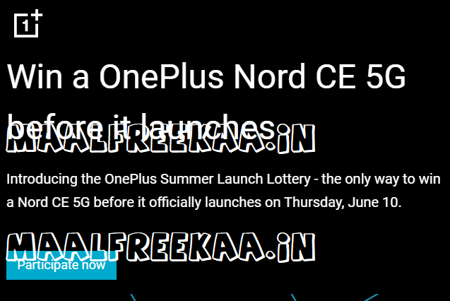 Win a OnePlus Nord CE 5G before it launches
