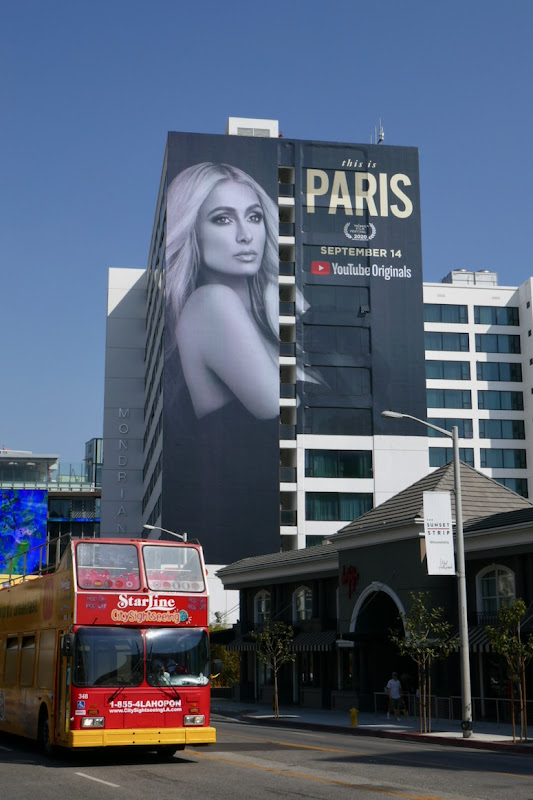 Giant This Is Paris Hilton documentary billboard