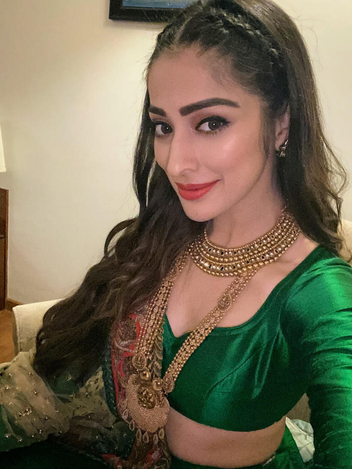 Raai Laxmi Hot Photos in Green Dress