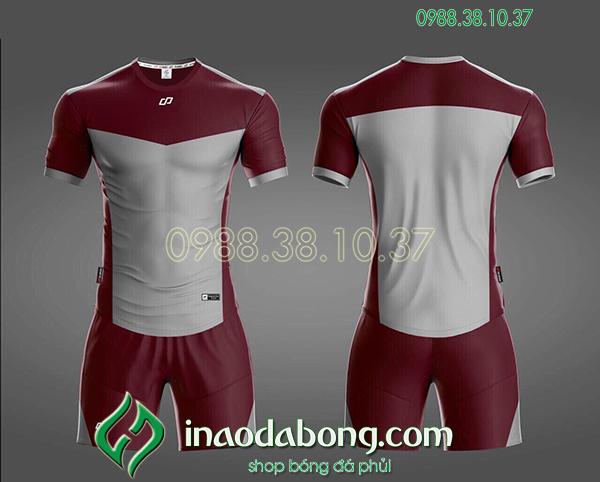 Áo bóng đá ko logo CP KC màu xám