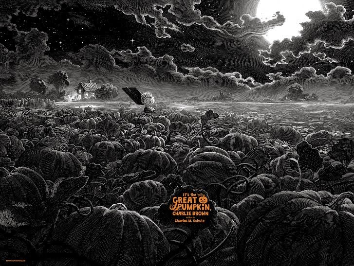 It's the Great Pumpkin, Charlie Brown Standard Edition Screen Print by Nicolas Delort