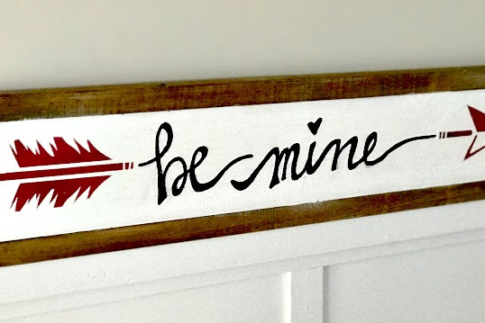 Hand Painted Valentine Arrow Sign