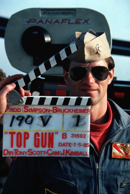 Fotografías del rodaje de Top Gun detrás de las cámaras
