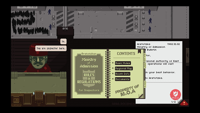 Screenshot of Papers, Please