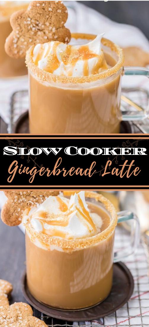 Slow Cooker Gingerbread Latte  #healthydrink #easyrecipe #cocktail #smoothie